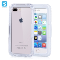 PC+TPE+PET waterproof clear phone case for iPhone 7 8